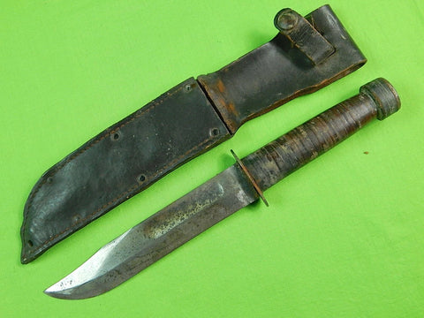 French France WW2 SANSSOUCHI Fighting Knife & Sheath