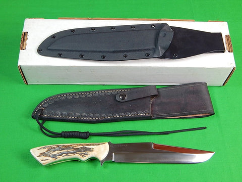 Custom Hand Made GERALD VESSELLA Big Tactical Fighting Knife w/ 2 Sheath Box