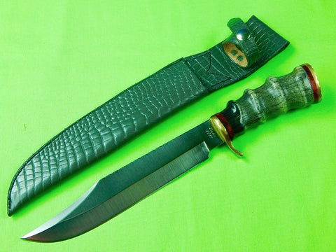 Custom Hand Made Gary Tucker Hunting Bowie Knife & Sheath