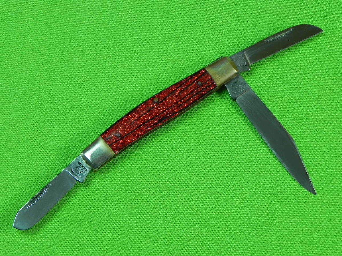 German '90 FRANK BUSTER FIGHT'N ROOSTER Limited Hell Don't Close Folding  Knife