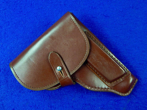 Vintage East German Germany Makarov Pistol Leather Holster .