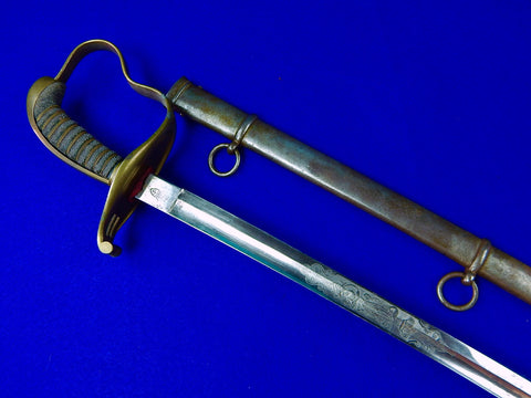 German Germany WW1 Engraved Officer's Sword with Scabbard