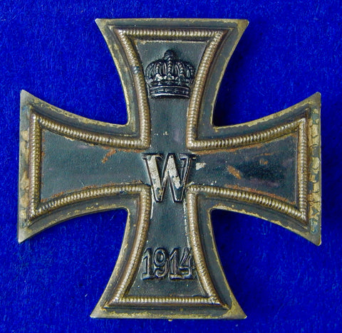 German Germany WW1 Iron Cross Medal Order Badge 1 Class Ko Maker Marked