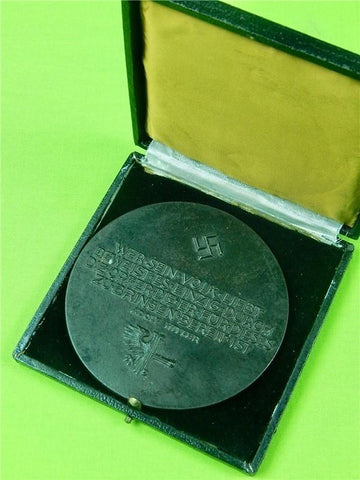 German Germany WW2 Large Table Medal w/ Box