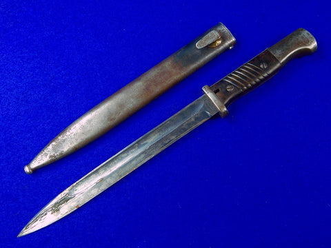 German Germany WW2 Mauser K98 Bayonet Dagger Knife w/ Scabbard Matching #