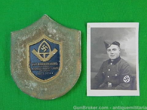 German Germany WW2 Wall Plaque Postcard Picture