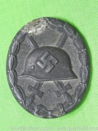 German Germany WW2 Wound Silver Medal Order Badge