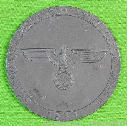German Germany WWII WW2 1939 Table Medal