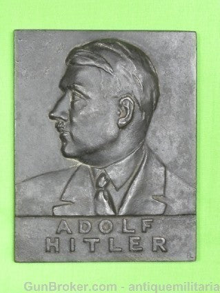 German Germany WWII WW2 Hitler Plaque