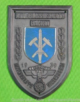 German Germany WWII WW2 Plaque Table Medal Badge