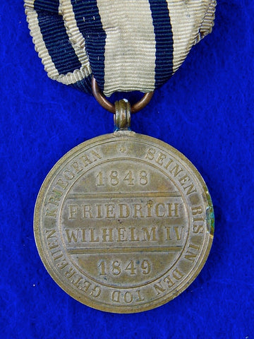 Vintage Antique German Germany 1848-49 Commemorative Medal Order Badge