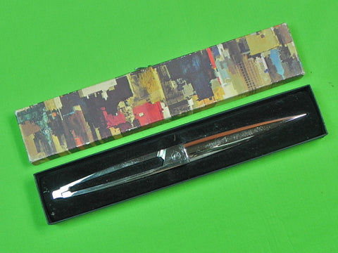 German Germany or British English Letter Opener Dagger Knife Scissors w/ Box