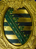 Antique German Germany Saxony Saxon WW1 Coat of Arms Plaque Military Decor