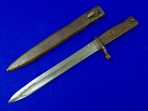 German WW1 Turkish Turkey Converted Ersatz Mauser Bayonet Knife w/ Scabbard