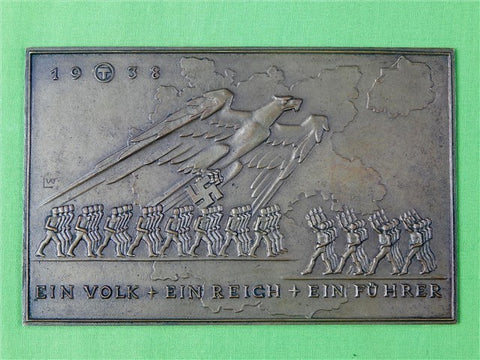 German WW2 Austria Annection Table Medal Plaque
