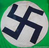 German WW2 Large Double Sided Round Swastika Flag