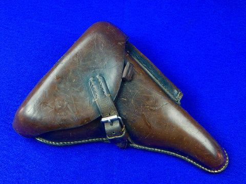 German Germany WW2 Luger P08 Leather Holster with US Belt Hanger