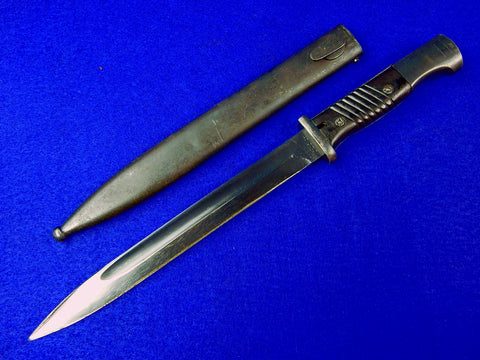 German Germany WW2 Mauser K98 Bayonet Fighting Knife Dagger w/ Scabbard