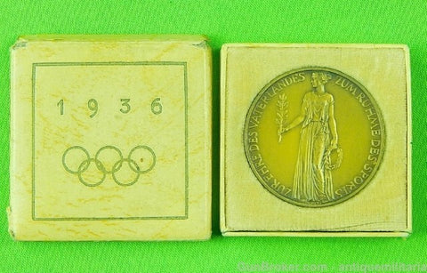 German pre WW2 1936 Olympic Games Table Medal
