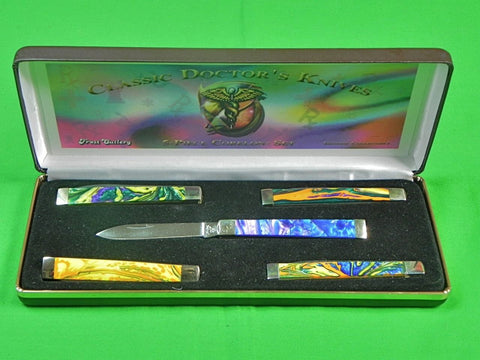 Germany German Frost Cutlery Classic Doctor's Set of 5 Folding Pocket Knife Box