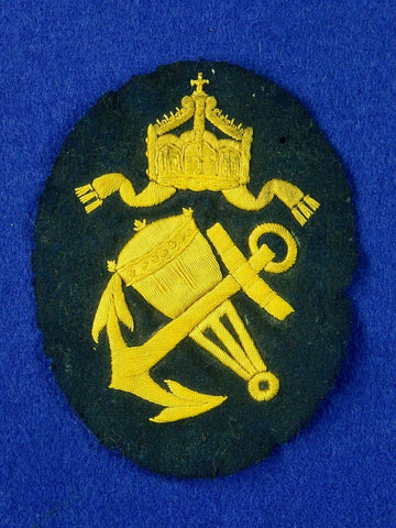 Imperial German Germany Antique WW1 Naval Navy Large Patch Badge