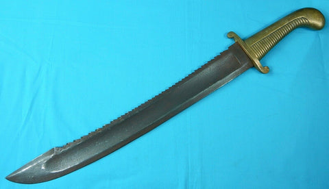 Antique Old Imperial Russian Russia Pre WW1 Large & Heavy Saw Back Sword