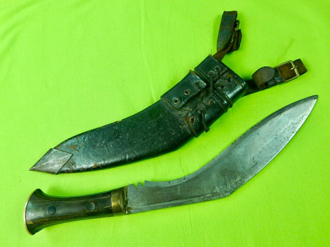 Indian India English British WW2 Kukri Gurkha Fighting Knife w/ Scabbard