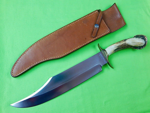Vintage US Custom Hand Made James B. JIMMY LILE Large Bowie Knife