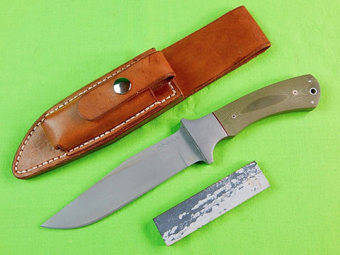 US Custom Hand Made James F. DOWNS Tactical Fighting Knife & Sheath Stone