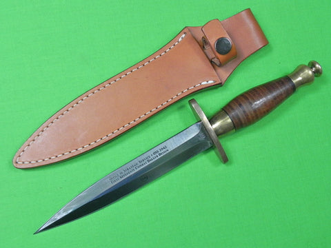 Japan Made Limited BOKER APPLEGATE First Combat OSS Fighting Knife Dagger Sheath