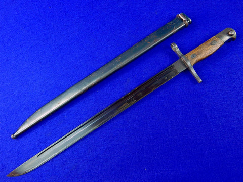 Japanese Japan WW2 Arisaka Bayonet Fighting Knife w/ Scabbard