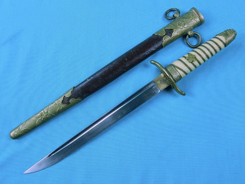 RARE Japanese Japan WW2 Navy Naval Officer's Dagger Fighting Knife & Scabbard