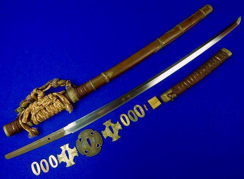 Japanese Japan WW2 Tachi Sword Antique Signed Katana Blade w/ Scabbard