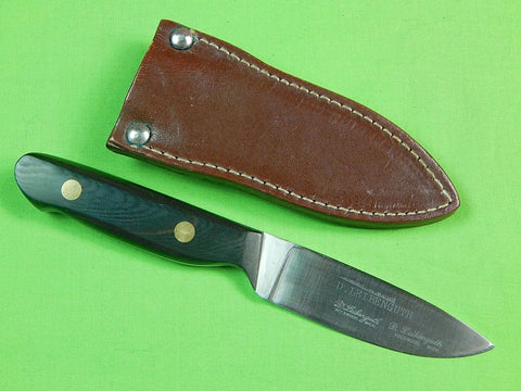 Vintage US D. LEIBENGUTH Rockwood MI Hunting Knife & Sheath