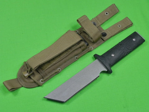 US Custom Hand Made by LES GEORGE Tactical Fighting Knife & Sheath