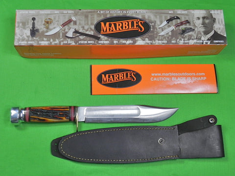 "US 2005 MARBLES Gladstone Ideal Limited Large 8"" Blade Hunting Knife Sheath Box"