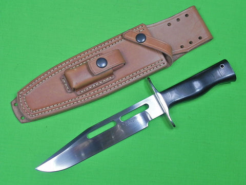US Custom Hand Made by M.H. MARTIN Fighting Knife & Sheath Stone