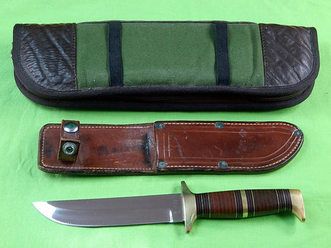 Custom Hand Made D. L. NOVAK Clarkson NE Fighting Knife & Sheath Case