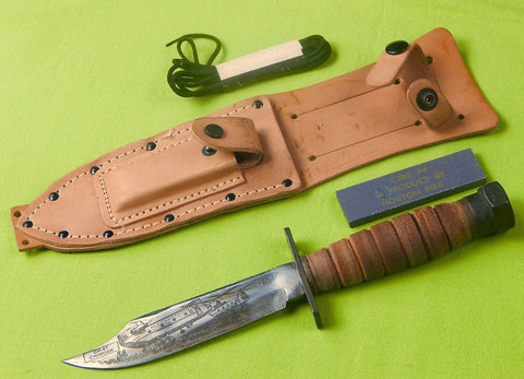 US 1984 Camillus Jet Pilot Survival Commemorative Engraved Fighting Knife #349