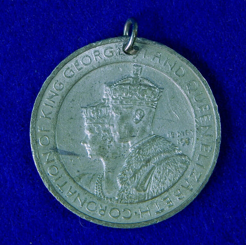 British English England 1937 Coronation Commemorative Medal Order Badge