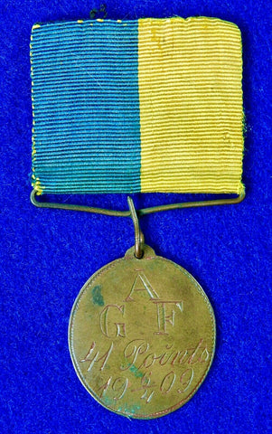 Antique Old British English or US 1909 Medal Badge Jeton