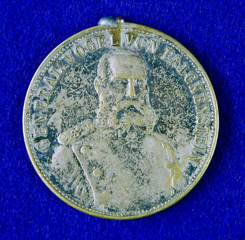 Antique German Germany 1910 General Vogel Von Falckenstein Medal Order Badge