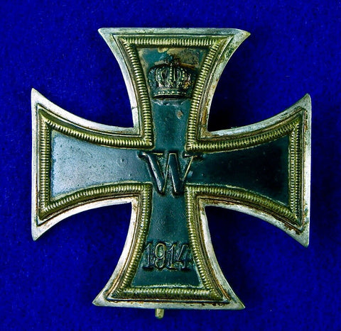 German Germany Antique WW1 Iron Cross 1 Class Medal Order Badge Pin Award