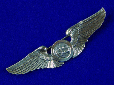 US WW1 1919 Army Pilot Blackinton Silver Wings Pin Badge Reproduction Replica