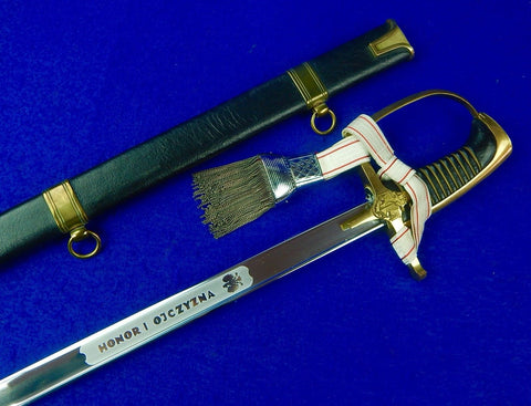 Polish Poland 1976 / 90 MW Navy Naval Officer's Sword Saber w/ Scabbard Knot