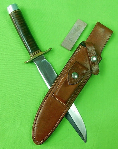 US Vietnam Custom Hand Made RANDALL Model 1 8 Fighting Knife Sheath Stone