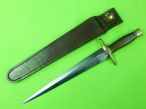 Vintage US Custom Hand Made RANDALL KIT Huge Stiletto Fighting Knife & Sheath
