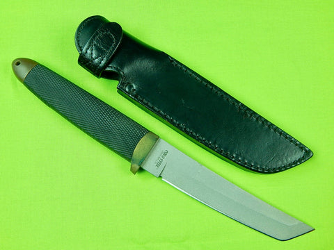 RARE Early 90's US Made COLD STEEL Ventura CA Recon Tanto Fighting Knife & Sheath