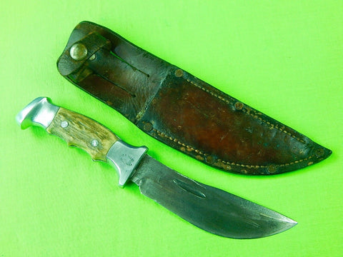 "Custom Hand Made R.H. Ruana Model 20A ""S"" Stamped Hunting Skinner Knife"