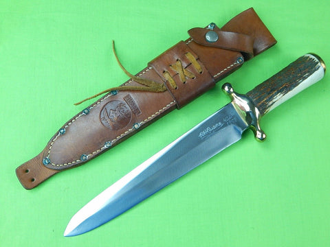 "1978 Custom Made ""RUDY"" R.H. RUANA Model 42D ""M"" Marked Spear Point Bowie Knife"